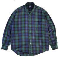 OLD GAP / Cotton B.D Check Shirt / Black Watch / Used