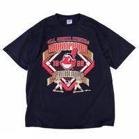 Made in USA / 90's Indians / Champion Logo Tee / Navy / Used