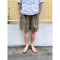 90's Eddie Bauer / Check 2tuck Shorts  / Khaki×Beige / Used
