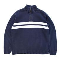Polo Ralph Lauren / Half Zip Knit Sweater / Navy / Used