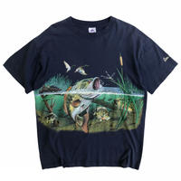 Made in USA / Wild Black Bass Tee / Navy / Used