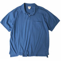 00's L.L.Bean / Solid Polo Shirt / Blue / Used