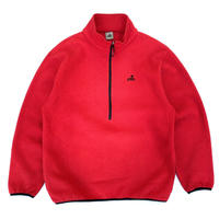 Made in USA / EMS / Half Zip Fleece Jacket / Red / Used