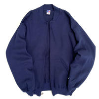 90s Russell Authentic / Full Zip Sweat / Navy / Used