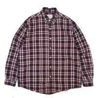 90s Eddie Bauer / Cotton B.D Check Shirt / Black × Red / Used