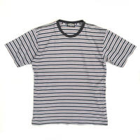 Cotton Border Tee / White × Grey /Used