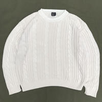 DOCKERS / Cable Crew Neck Knit  / lvory / Used