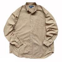 "90's Raph Lauren / Cotton Checked B.D Shirt ""BLAKE"" / Lt.Brown / Used"