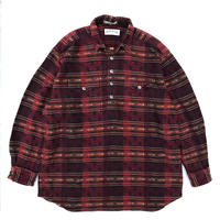 ORVIS / Native Pattern Pullover Shirt  / Burgundy / Used