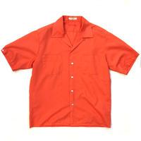 60-70s McGREGOR / L/S Open Collar Shirt / Orange / Used