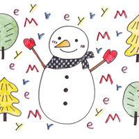 ポストカード10枚セット「雪だるまのクリスマス」