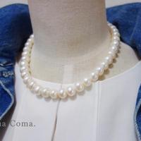 11mm 大珠パール ネックレス