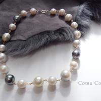 大珠南洋バロック真珠 シャンク ネックレス