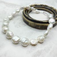 バロックパール 中空真珠ネックレス