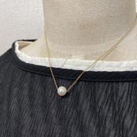 あこや真珠の一粒ネックレス