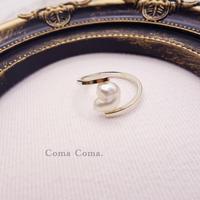 白蝶ゴールデンケシパールの指輪