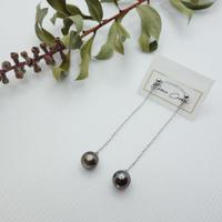 黒蝶真珠 ロングピアス