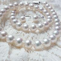 あこや花珠真珠セット (ネックレス ・イヤリングorピアスセット)(パールネックレス)