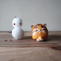 太田夏紀「きまぐれなトラ」自分が焦ったところで、何の為にもならない事を知っている。8.5×9×15cm 陶土