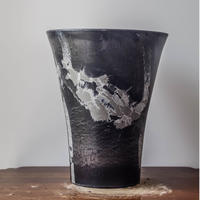 MarblePot20cm(Orchid)/Black with Light Charcoal