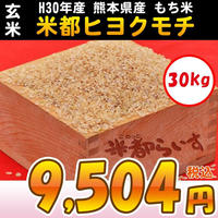 【もち米】H30年産 熊本産(玄米)ヒヨクモチ100% 2等米 30kg