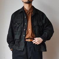 【圧倒的クールな面構え!】MILITARY DEADSTOCK  アメリカ軍BDUジャケット 後染めブラック
