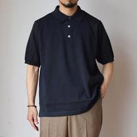 【久々のポロシャツ提案!】A VONTADE PAPER KNIT POLO ア ボンタージ ニットポロ フェードブラック/コルク