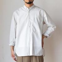 【バンドカラー風BD!】STILL BY HAND スティルバイハンド コットンクロス スモール ボタンダウンシャツ ライトグレー