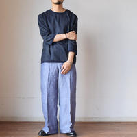 Re made in tokyo japan Linen Canvas Button Basque  リネンキャンバス 3/4袖 バスクシャツ