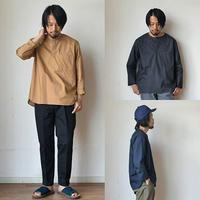【シャツ仕立ての上品なロンT】STILL BY HAND  スティルバイハンド 比翼プルオーバーシャツT チャコール/キャメル/ネイビー