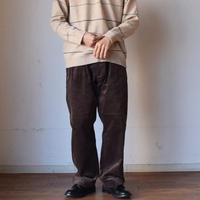 【重厚・太畝コーデュロイパンツ!】A VONTADE BRITISH OFFICER TROUSERS ア ボンタージ 2タック ブリティッシュ オフィサートラウザー ダークブラウン/ブラウン