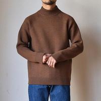 【毛玉知らずの最高級セーター!】EEL Products  イール プロダクツ ノルディックセーター ハイネック キャメルブラウン