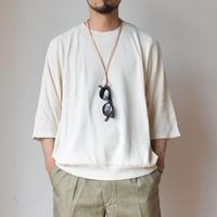 【真夏対応のサマーニット!】FLISTFIA フリストフィア 3/4袖  コットンリネンセーター