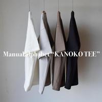 【肉厚カノコの絶妙オーバーサイズT!】Manualalphabet  KANOKO TEE マニュアルアルファベット 鹿の子Tシャツ