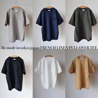 【5月末~入荷予定分】Re made in tokyo japan FRENCH LINEN PULL OVER TEE フレンチリネン リラックスTシャツ