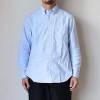 """【新定番BDシャツ】EEL Products イール プロダクツ オックス ボタンダウンシャツ """"ワシントンBD"""" ホワイト/サックス"""