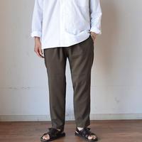 【パンツはこの色もあります!】LA MOND SHARI PANTS シャリパンツ シャンブレーカーキブラウン