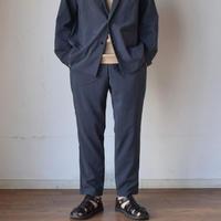 【夏対応のカジュアルスーツ!】LA MOND SHARI PANTS シャリパンツ シャンブレーブラック