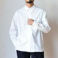 【バンドカラーだけではありません!】STILL BY HAND スティルバイハンド リラックス レギュラーカラーシャツ ホワイト/ブラウン