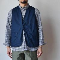 【機能性とファッション性を兼備】WORKERS   ワーカーズ  ハンティングベスト コットンリネン/コードレーン