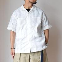 【ホワイトグレンチェックが刺さります!】A VONTADE PW Open Shirts S/S ア ボンタージ  オープンカラーシャツ ホワイト