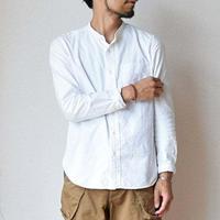 【ホワイト/ギンガム再生産します!】MANUAL ALPHABET マニュアルアルファベット プレミアムオックス バンドカラーシャツ ホワイト/ブラック/ネイビー/ブラックギンガム