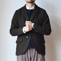 【ウールツイードの3つ釦ジャケット】EEL Products  イール プロダクツ ベルボーイジャケット ブラウン/チャコール