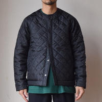 BEAVER OF BOLTON キルティングジャケット ブラック/ライトオリーブ