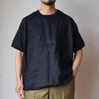 【4月末~入荷予定分】Re made in tokyo japan FRENCH LINEN PULL OVER TEE フレンチリネン リラックスTシャツ ブラック/ホワイト/ネイビー/ベージュ