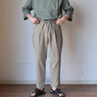 【パンツはこの色もあります!】LA MOND SHARI PANTS シャリパンツ ベージュ/シャンブレーブラック