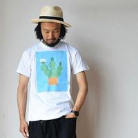 """【今季のプリントTはこれ!】SETTO  セット """"SABO-T"""" ホワイト"""
