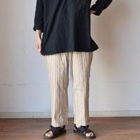 【スラックス+パジャマパンツ】STILL BY HAND スティルバイハンド  ストライプ イージーパンツ ベージュ/オリーブ