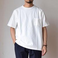 【半袖タイプを初セレクト!】Jackman DOTSUME POCKET TEE ジャックマン 度詰め ポケットTシャツ ホワイト
