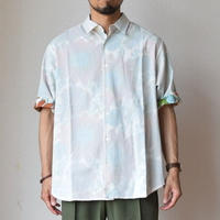 【無地以上、総柄未満!】EEL Products  MERCI SHIRT イール プロダクツ   メルシーシャツ ホワイト